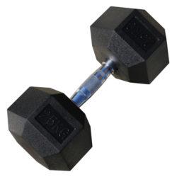 Гантель гексагональная обрезиненная 25 кг