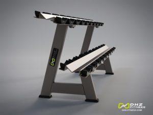 DHZ Style I Pro E1077 Стойка для гантелей 2-х ярусная на 10 пар фото