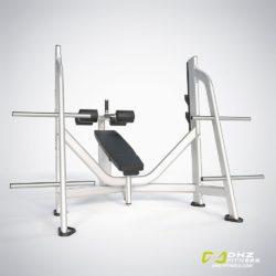 DHZ E-7041 Скамья-стойка для жима под углом вниз (Olympic Decline Bench)