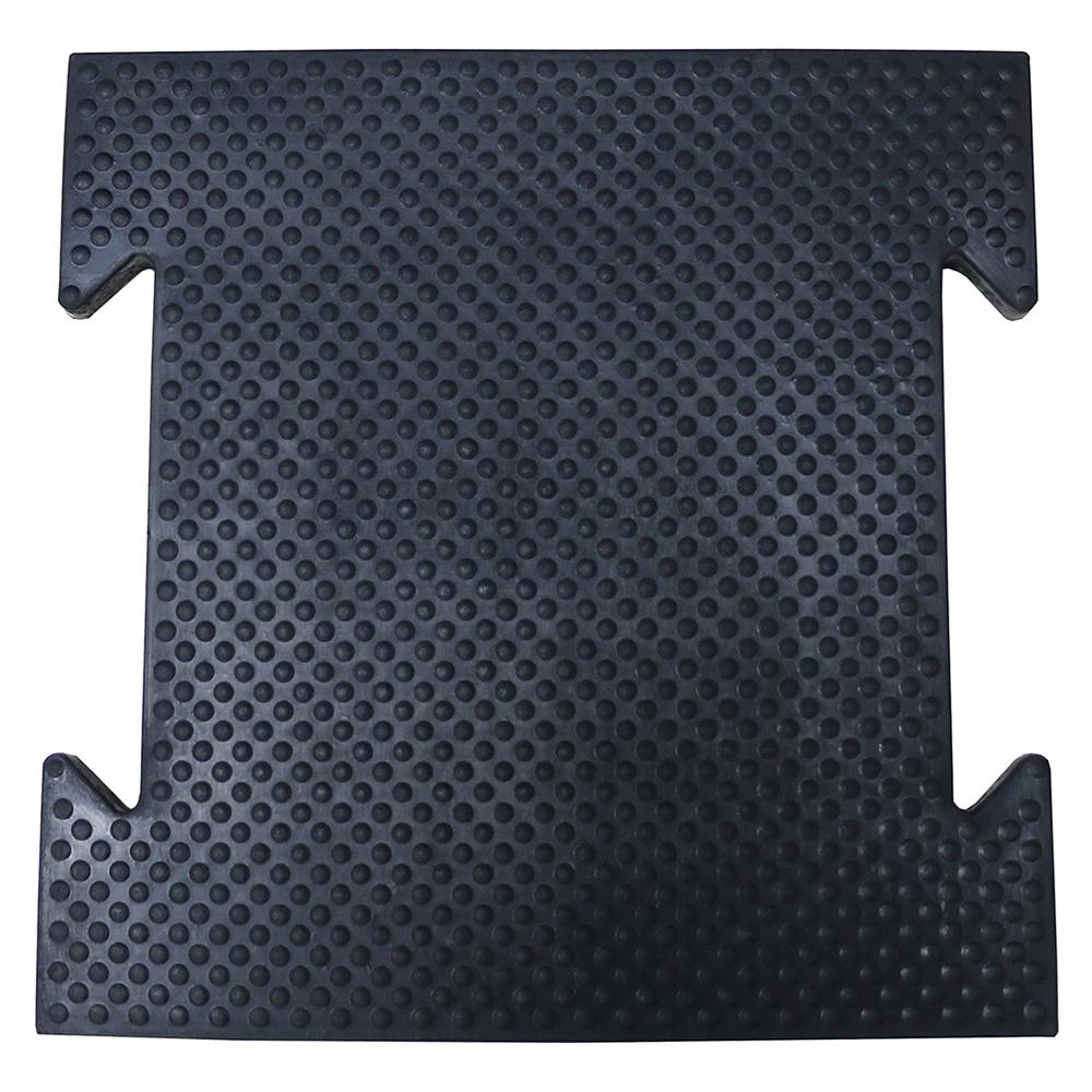 Коврик резиновый черный, 500 x 500 x 25 мм