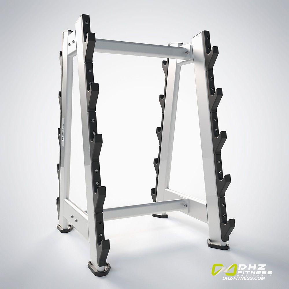 DHZ Fitness Prestige Pro E7055A Стойка для грифов и фиксированных штанг 10 шт