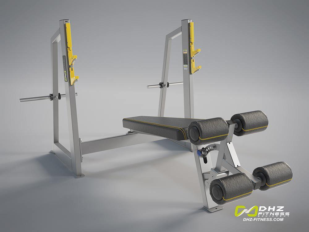 DHZ A-3041 Скамья-стойка для жима под углом вниз (Olympic Decline Bench)