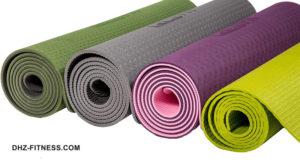 PROFI-FIT PROFI Коврик для йоги и фитнеса 6 мм, зеленый / серый фото