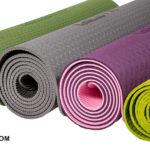 PROFI-FIT PROFI Коврик для йоги и фитнеса 6 мм, фиолетовый / розовый