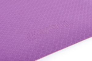 PROFI-FIT PROFI Коврик для йоги и фитнеса 6 мм, фиолетовый / розовый фото