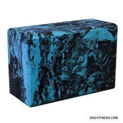 B26352-1 Йога блок полумягкий (черно/голубой гранит)