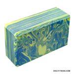 B26352-2 Йога блок полумягкий (зелено/голубой гранит)