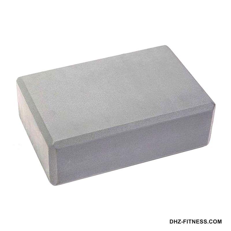 BE100-10 Йога блок полумягкий (серый)
