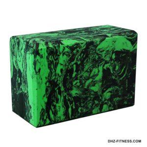BE200-13 Йога блок полумягкий (зеленый гранит) фото