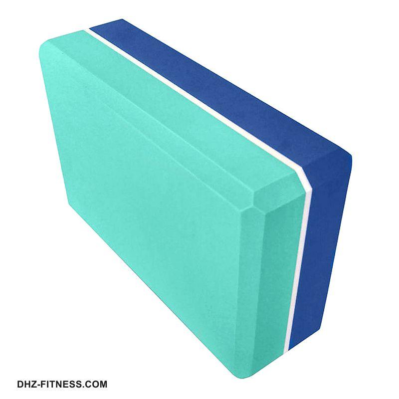 E29313-1 Йога блок полумягкий 2-х цветный (синий-бирюзовый)