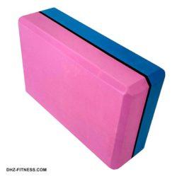E29313-2 Йога блок полумягкий 2-х цветный (синий-розовый)