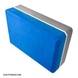 E29313-3 Йога блок полумягкий 2-х цветный (синий-серый)