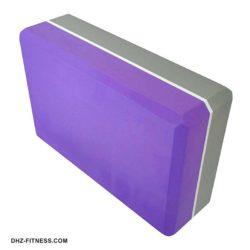 E29313-4 Йога блок полумягкий 2-х цветный (фиолетовый-серый)