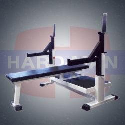 HM-004 Лифтерская скамья с домкратами и страховочной платформой