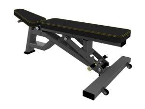 DHZ Fitness Evost Strong R-2039 Скамья универсальная, мобильная (Super Bench) фото