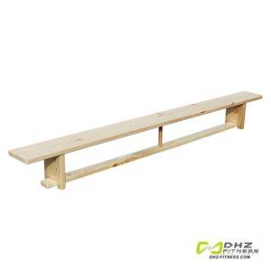 Скамья гимнастическая 2,8 м на деревянных ножках фото
